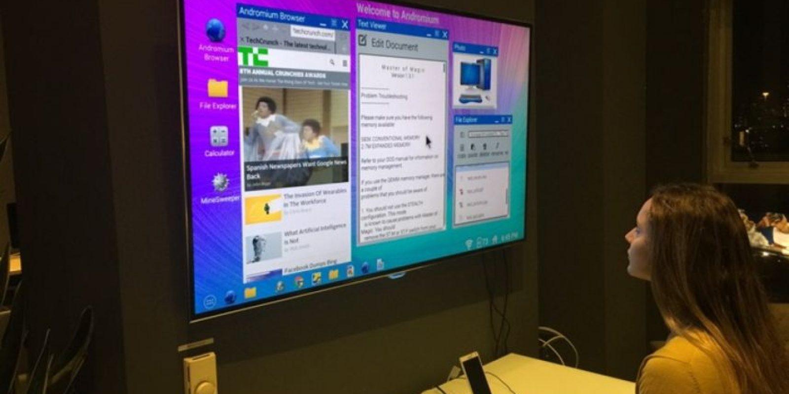 Con este dispositivo se pueden trabajar archivos de texto, navegar en internet y hasta jugar Foto:Kickstarter/Andromium