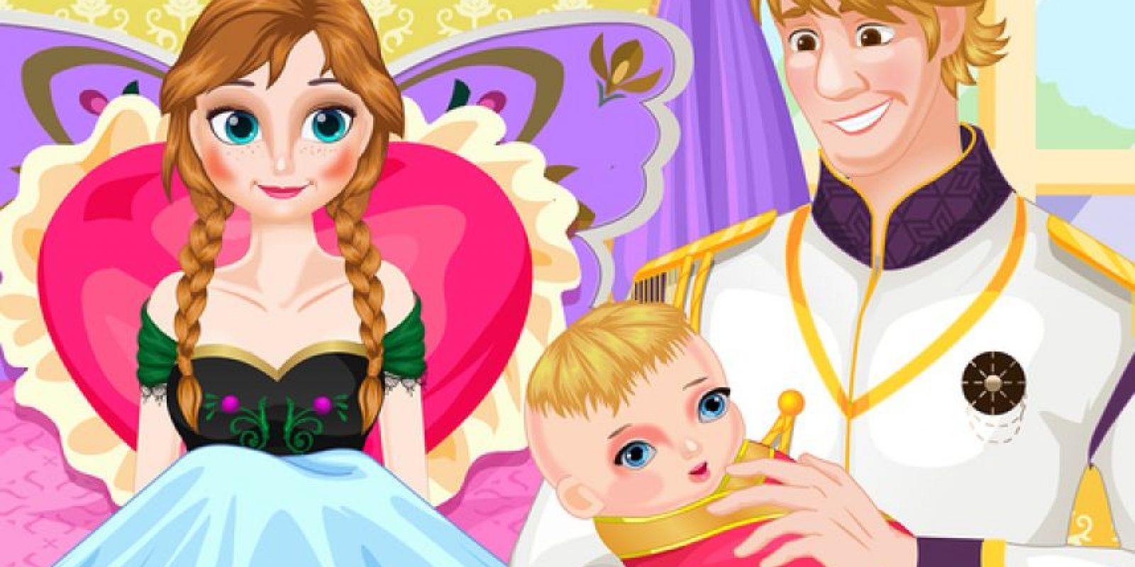 Aunque no tienen relación con Disney, este juego presenta Kirstoff y Anna en el nacimiento de su bebé Foto:iTunes
