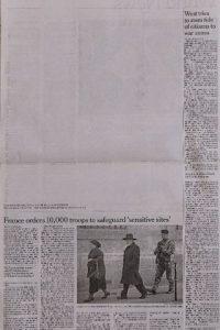 En este país se removió un artículo de la edición internacional del diario The New York Times, el cual mostraba la polémica portada Foto:AFP