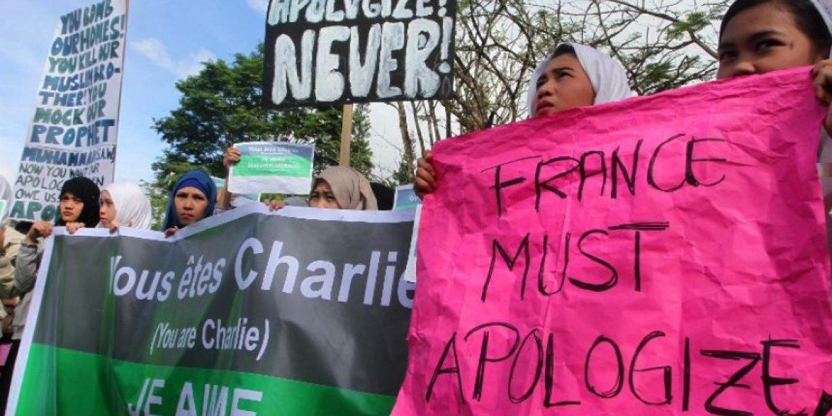 Musulmanes protestan contra Charlie Hebdo alrededor del mundo