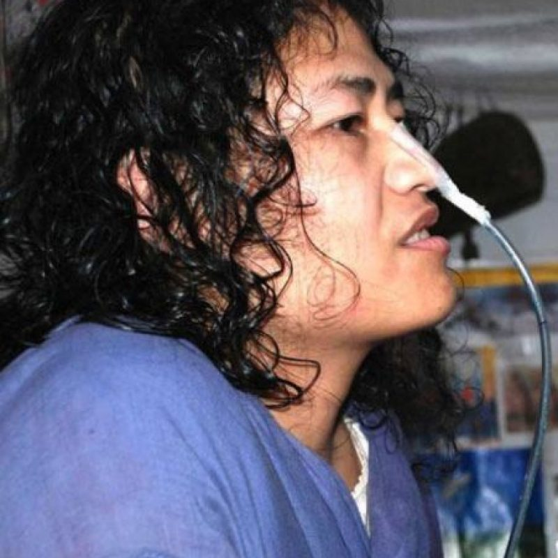 Lleva más de 14 años en huelga de hambre. Foto:Vía Facebook.com/irom.c.sharmila
