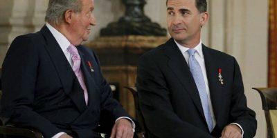 Juan Carlos abdicó a favor de su hijo Felipe. Foto:Getty Images