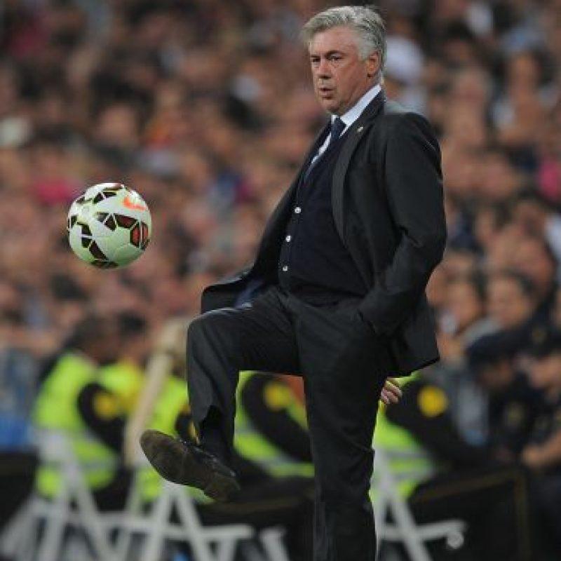 El DT Carlo Ancelotti sabe que su título en la Copa del Rey está en peligro Foto:Getty