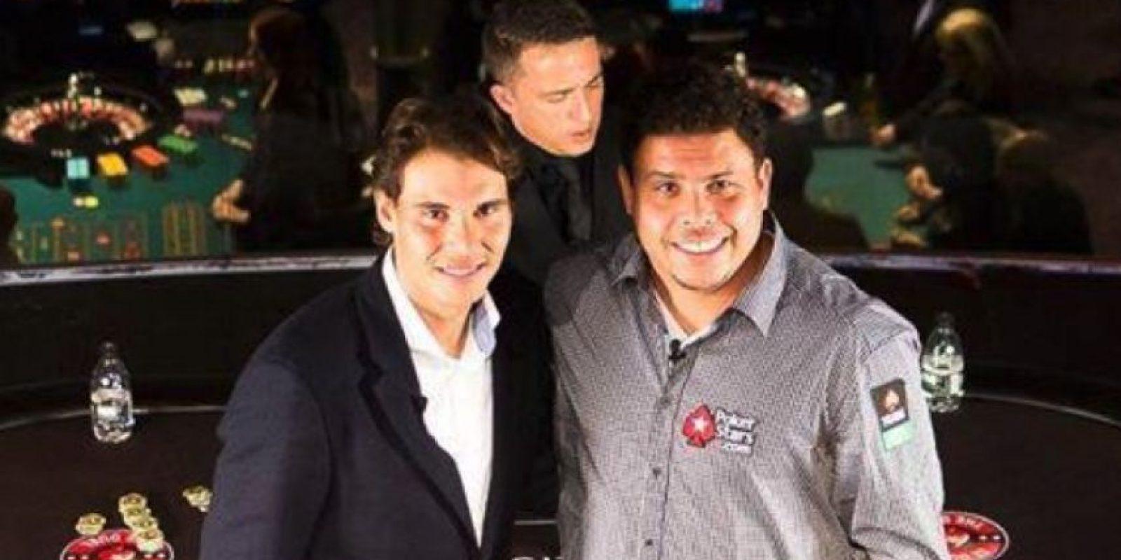 Nadal y Ronaldo suelen compartir la alfombra del poker Foto:PokerStars