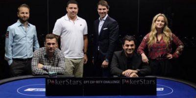 El exfutbolista ucraniano Andriy Shevchenko, Ronaldo y el tenista Rafa Nadal forman parte de los rostros de PokerStars Foto:PokerStars