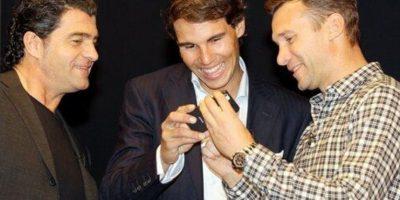 El exesquiador italiano Alberto Tomba junto a Nadal y Shevchenko Foto:PokerStars