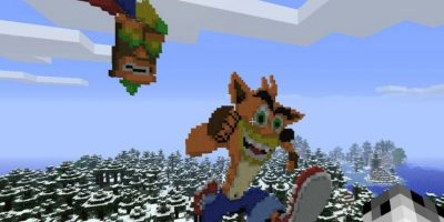 Crash Bandicoot Foto: Minecraft / Twitter