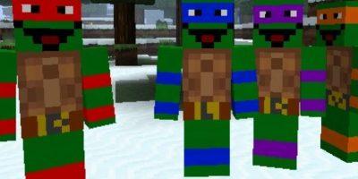 Las tortugas ninja Foto:Minecraft / Twitter