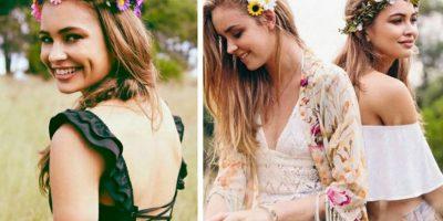 """La estética """"Coachella"""" es lo suyo. O son la copia barata de Olivia Palermo o Miranda Kerr, descafeinadas pero """"bonitas"""" Foto:Pinterest"""