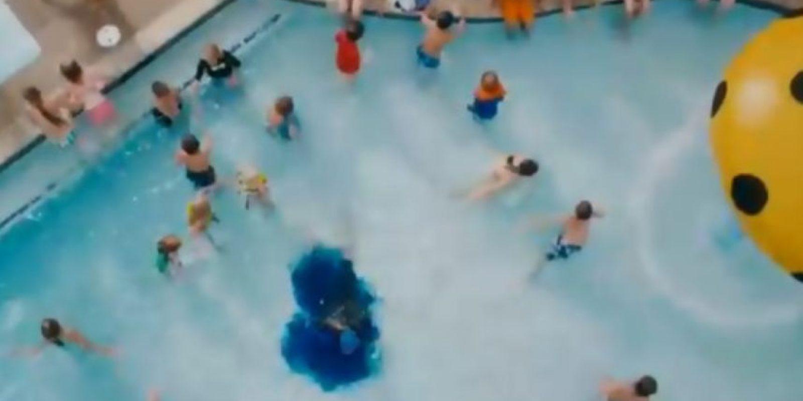 Y en la piscina… Foto:Tumblr