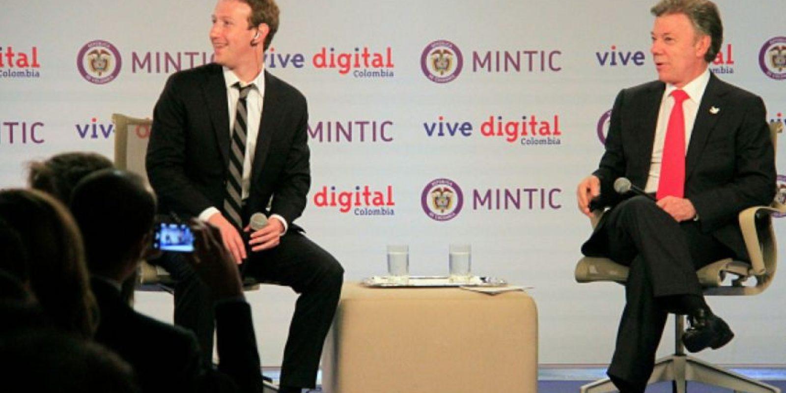 Mark Zuckerberg, creador de Facebook, estuvo en una visita relámpago en Colombia. Foto:Getty Images