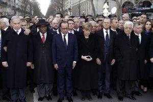 La Marcha Republicana, en la que líderes mundiales muestran solidaridad Foto:AFP