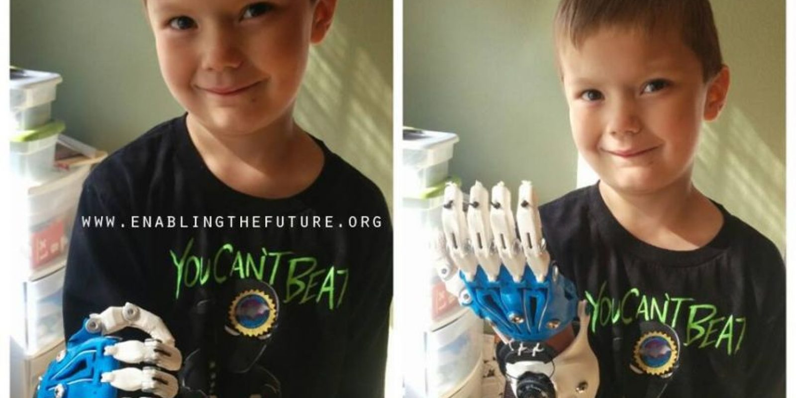 Además de ser prótesis que se adaptan a las necesidades de cada pequeño Foto:Facebook/E-Nable