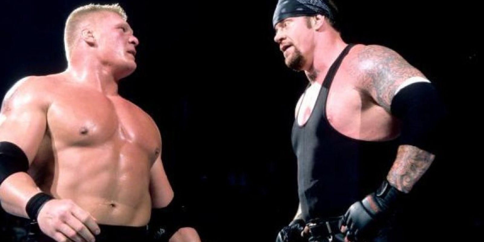 Brock Lesnar impuso su ley en 2003 Foto:WWE