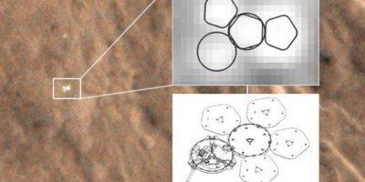 Fotos. Encuentran una nave espacial perdida en Marte