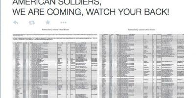 """""""Soldados estadounidenses, hemos llegado. Cuiden su espalda"""" Foto:Twitter"""