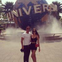 En julio de 2013 visitaron los estudios Universal en Singapur. Foto:instagram.com/cristiano