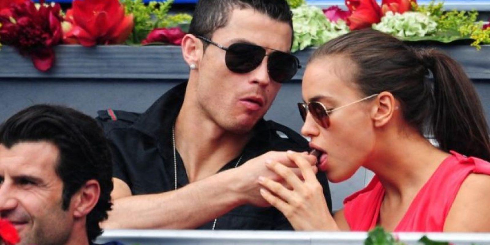 Cristiano e Irina en el Mutua Madrileña Madrid Open en mayo de 2012. Foto:Getty Images