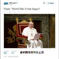 """""""Papa Francisco: 'La Tercera Guerra Mundial ha comenzado"""