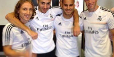 Con sus compañeros del Real Madrid Foto:instagram.com/garethbale11