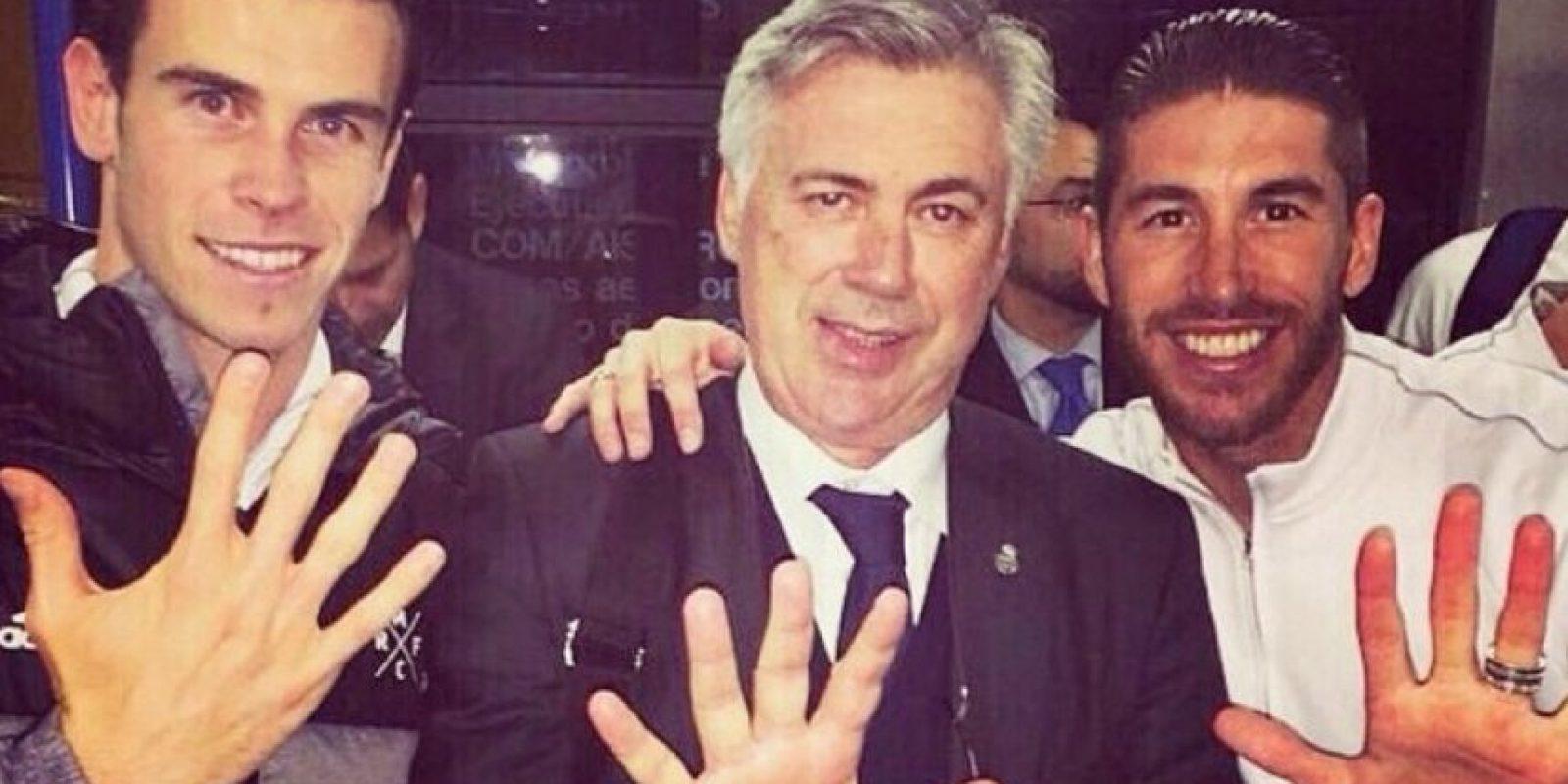Bale, Ancelotti y Ramos Foto:instagram.com/garethbale11