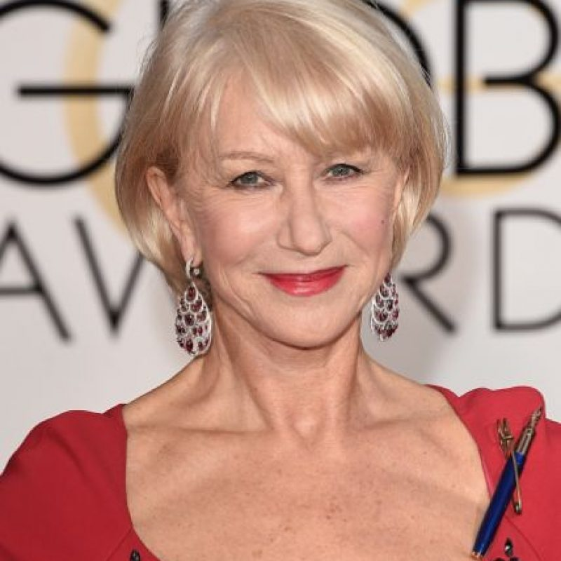 Aquí, en los Golden Globes. Foto:Getty Images