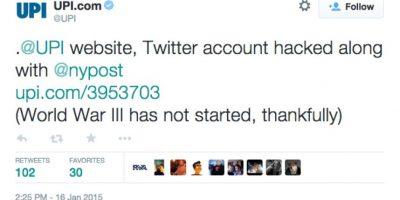 """FOTOS. Piratas informáticos hackean cuentas y anuncian """"Tercera Guerra Mundial"""" en Twitter"""