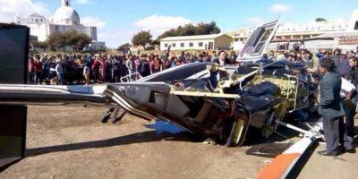 Se desploma helicóptero donde viajaban dirigentes del Partido LÍDER