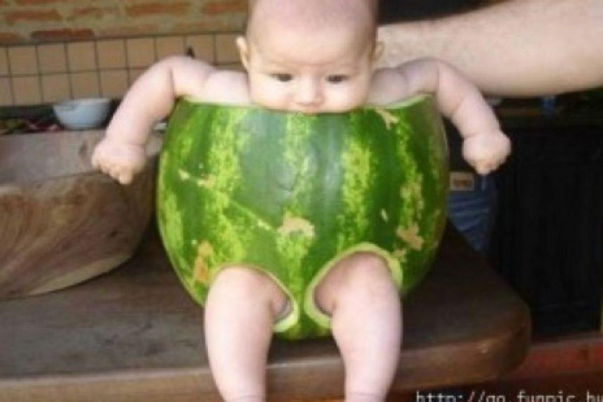 ¿Bebé sandía? Foto:Tumblr.com/Tagged/fotos-extrañas