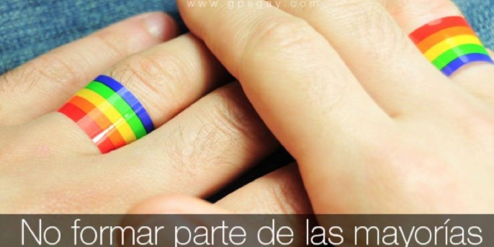 """""""No formar parte de las mayorías, no significa que nuestros derechos deban ser olvidados"""". Foto:Facebook.com/COMUNIDADGPSGAY"""