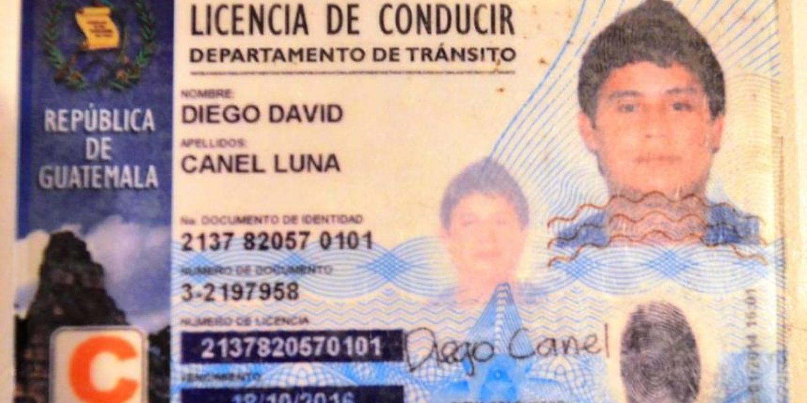 La licencia del conductor. Foto:PNC