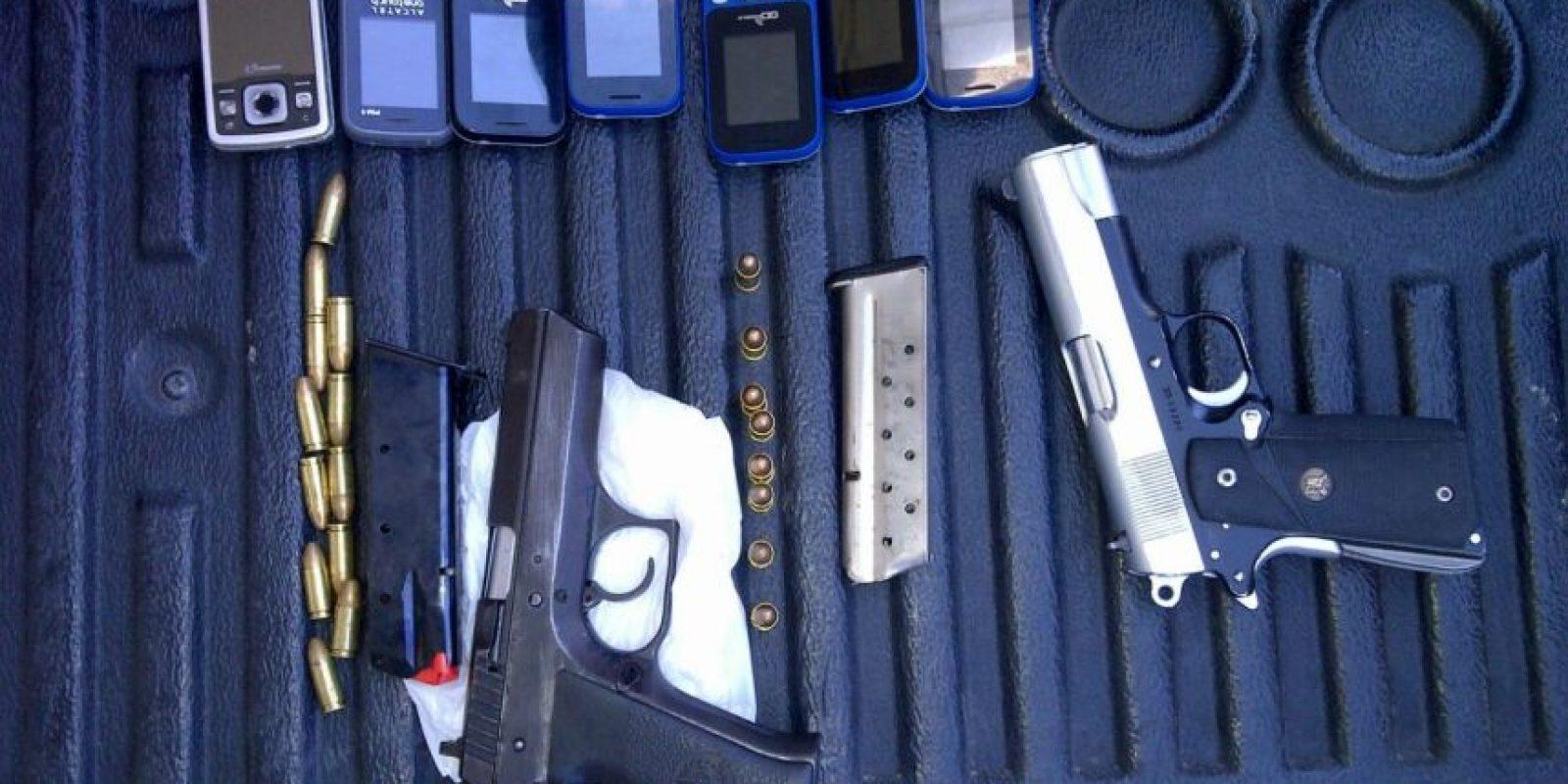 Portaban armas y celulares. Foto:PNC