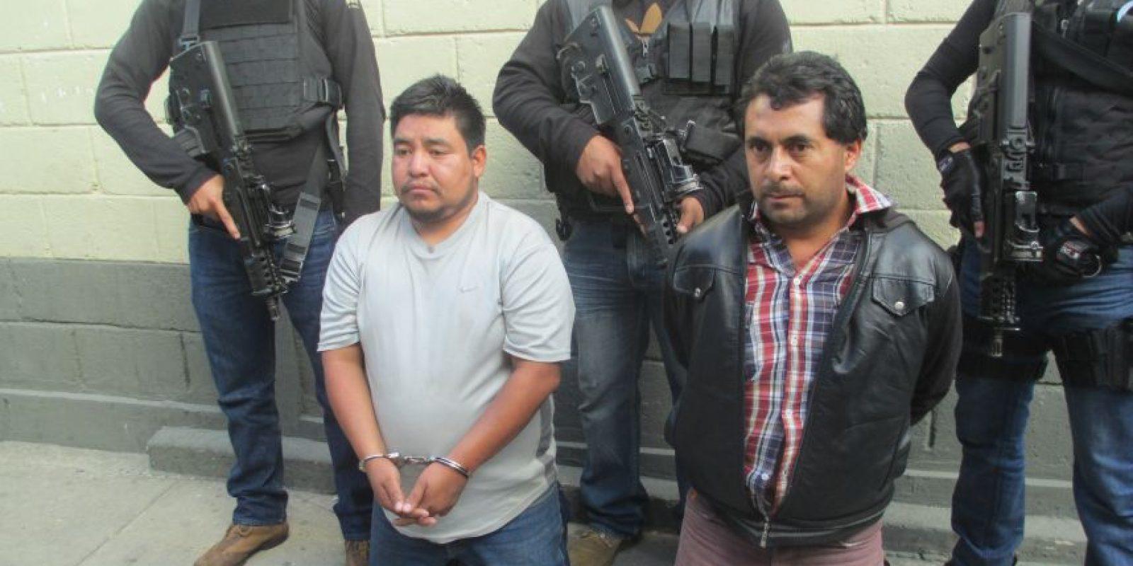 Integrantes de una banda de supuestos secuestradores. Foto:PNC