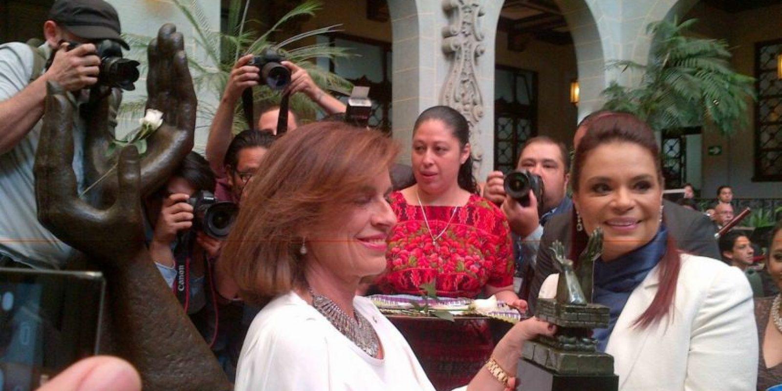 La alcaldesa de Madrid, Ana Botella junto a la vicepresidenta Roxana Baldetti. Foto:Publinews