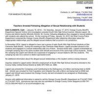 El comunicado de prensa emitido por la Oficina del Sheriff de Orange County Foto:Twitter @OCSD