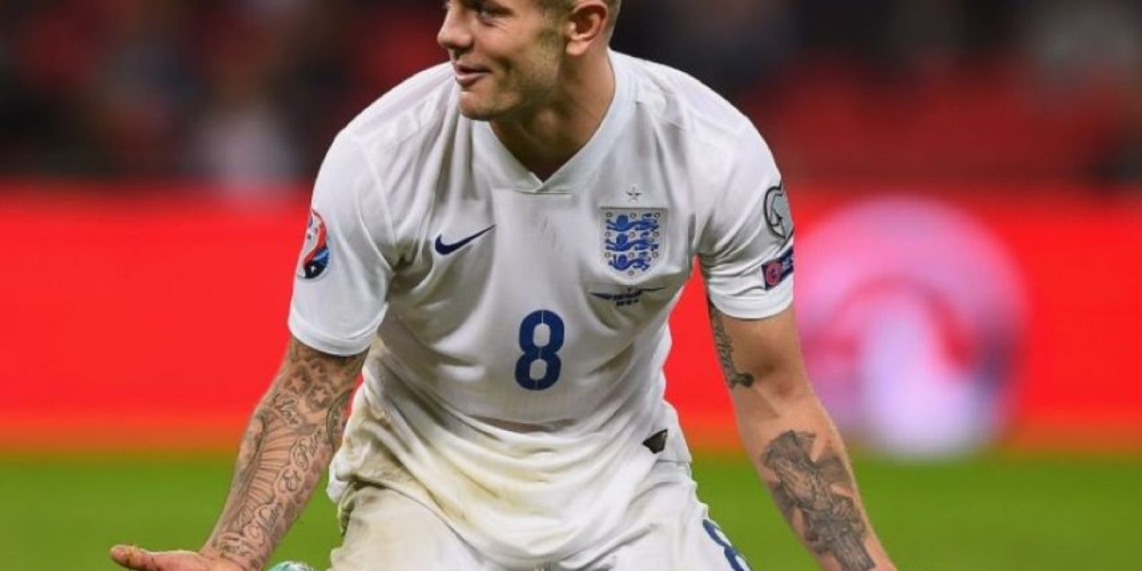 Lo primero que salta a la vista del inglés son sus brazos llenos de tattoos. Foto:Getty Images