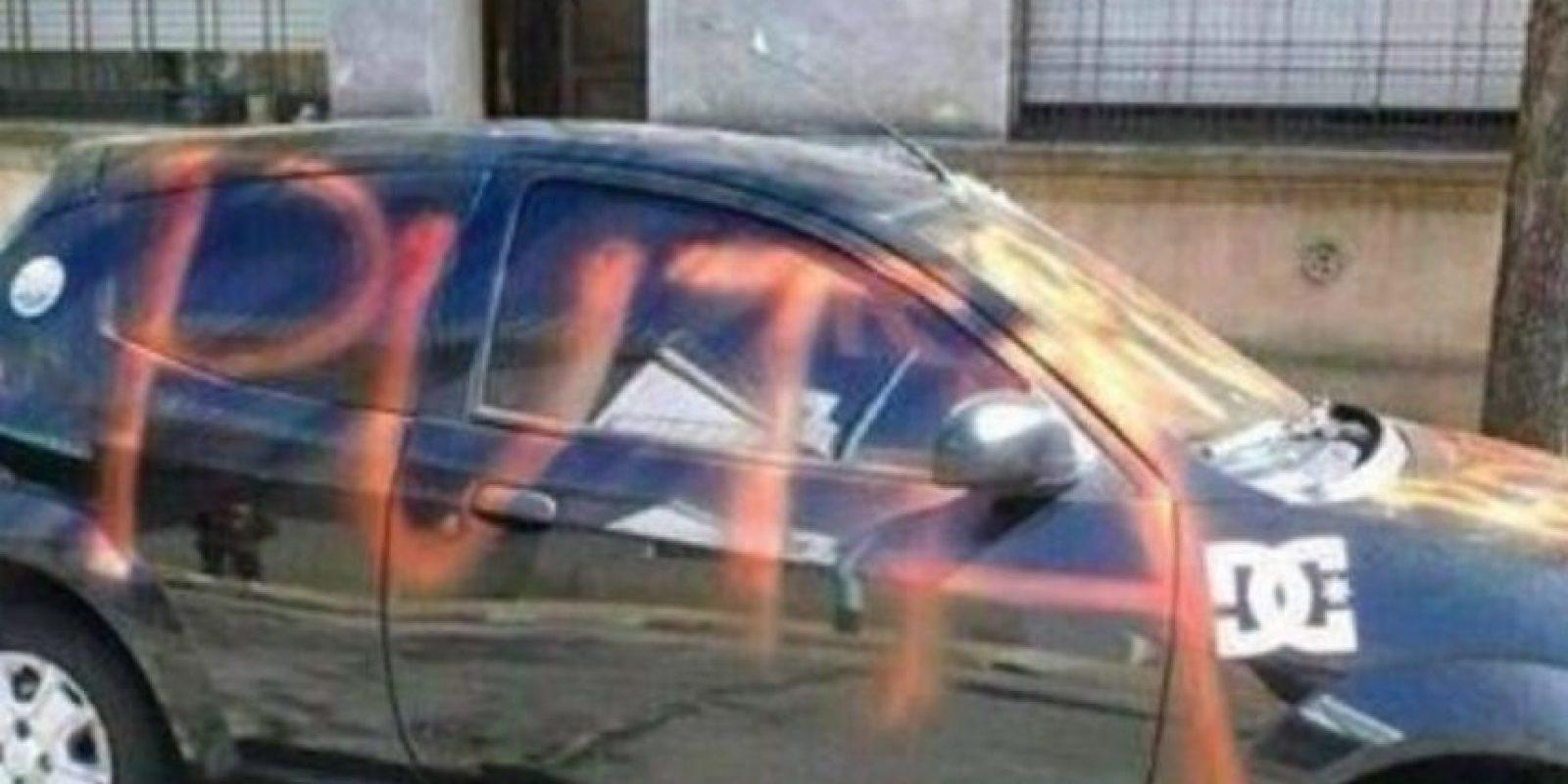 """""""Por eso rayaré su auto"""" Foto:Imgur"""