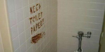 Alguien necesitaba papel higiénico. Foto:Twitter