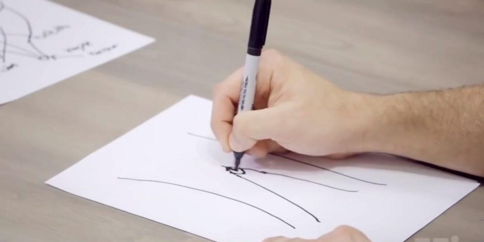 Unos la dibujaron de forma infantil. Foto:.Mic/Youtube