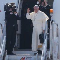 Francisco aprovecho esta gira para pedir por la paz del mundo. Foto:Getty Images