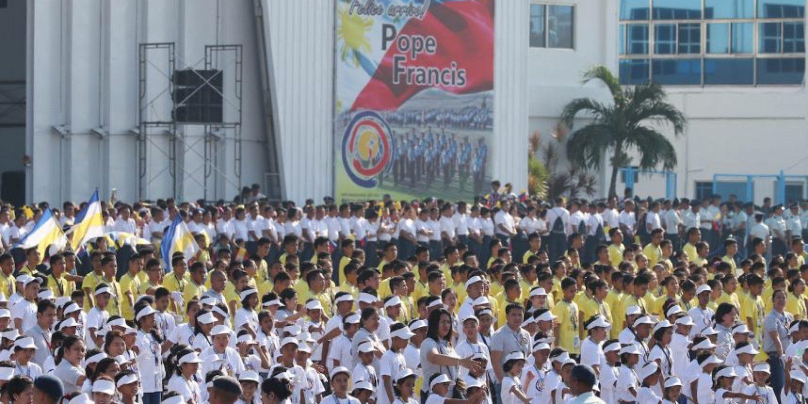 Los filipinos le desmostraron en todo momento su amor. Foto:Getty Images