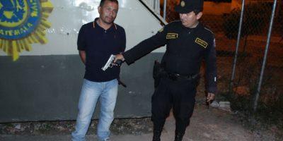 Erick Villalta Estrada, de 41 años, fue apresado por amenazar de muerte a Gonzñalez. Foto:PNC