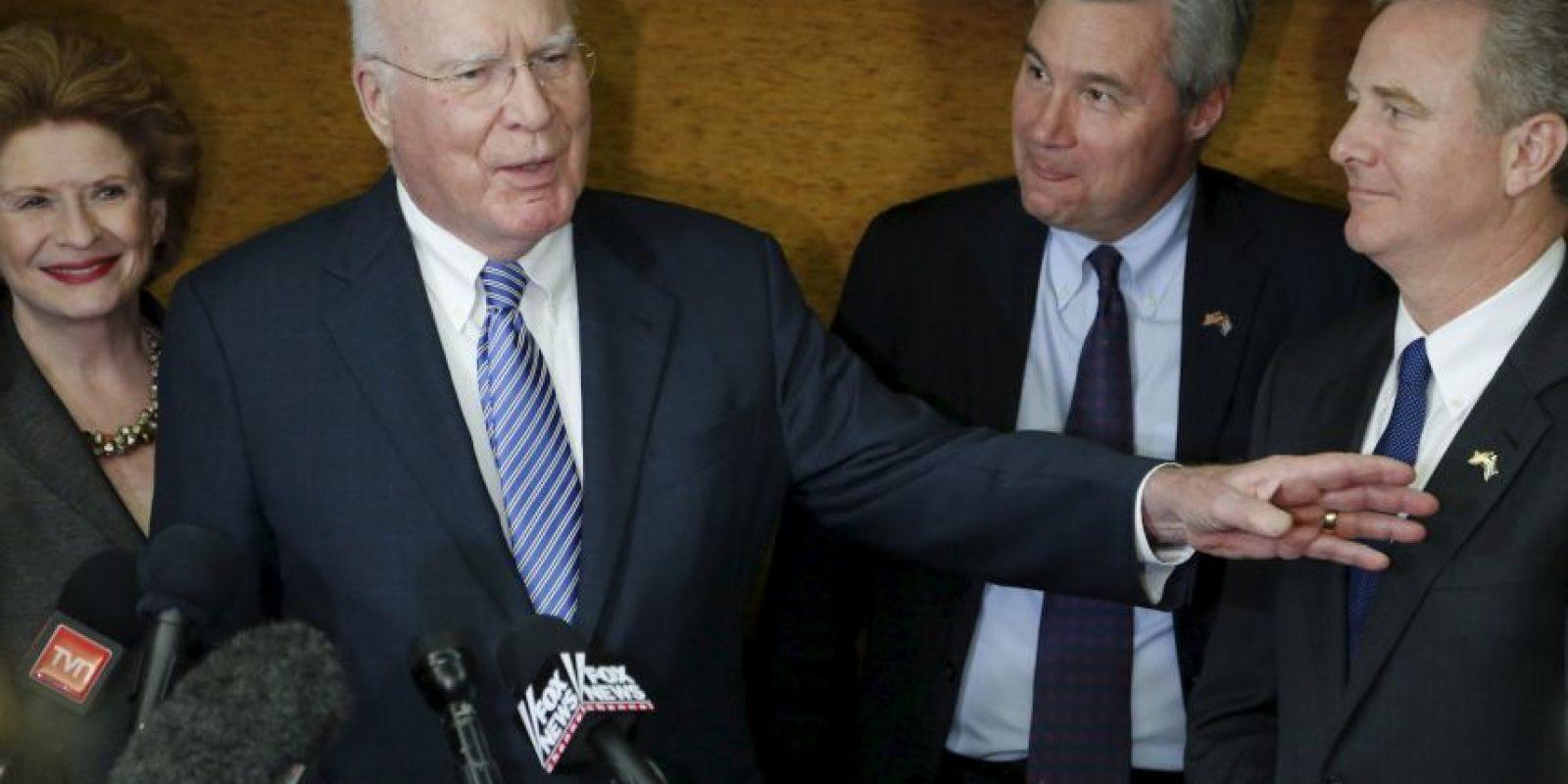 El demócrata Patrick Leahy estuvo en la isla para allanar el camino a las conversaciones. Foto:AP