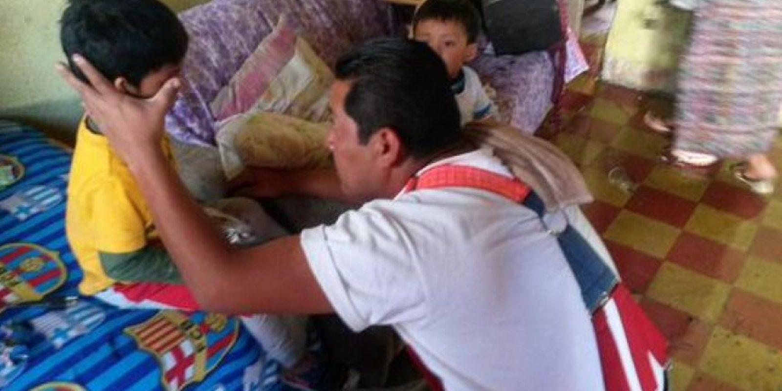 El niño estaba solo en la vivienda. Foto:CVB