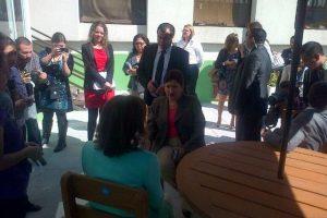 Thelma Aldana recibe a Botella. Foto:MP