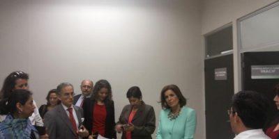 Botella se reune con la fiscal general Thelma Aldana. Foto:MP