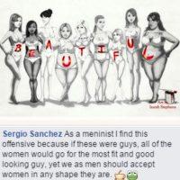 """""""¿Si esta imagen fuese recreada con hombres, las mujeres se irían por el más guapo? YO creo que sí"""", afirma uno de los seguidores del """"movimiento"""". Foto:Tumblr/MeninistMovement."""