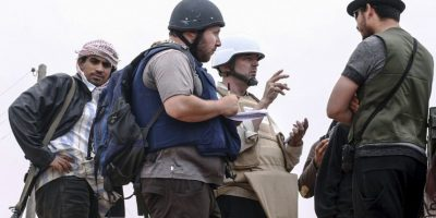 Steven Sotloff, periodista asesinado por el grupo terrorista. Foto:Getty