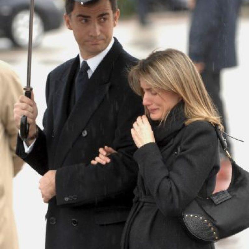 2007, en el funeral de Erika Ortiz, hermana menor de Letizia Foto:Getty Images