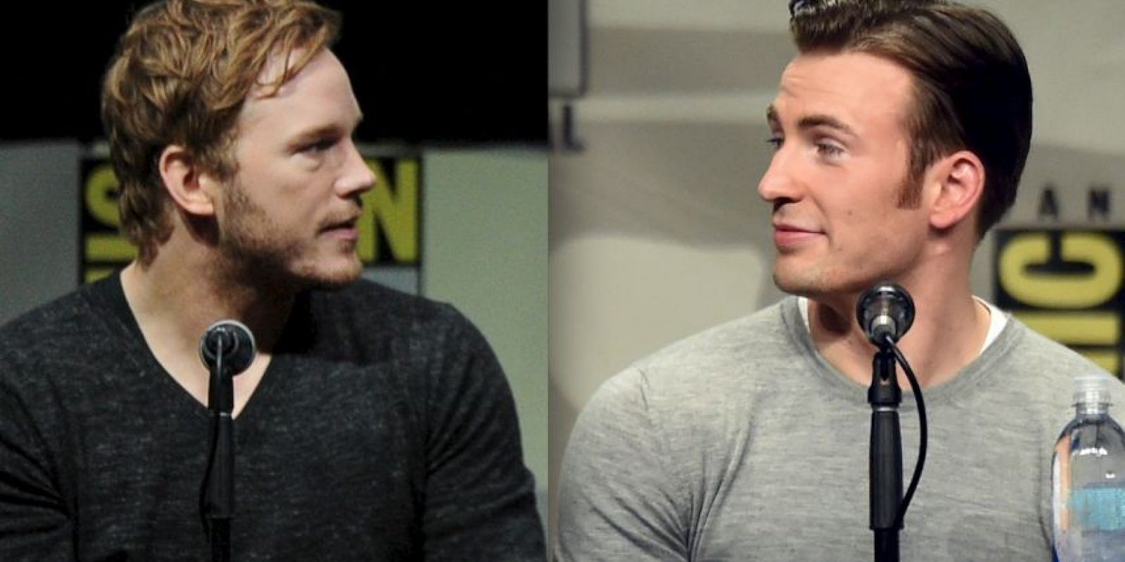 Chris Pratt y Chris Evans Foto: Getty Images